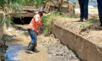 Canal pluvial de El Pando.