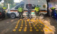 Conductor de automóvil fue capturado con 40 kilos de marihuana en la Zona Bananera.