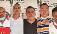 Cinco presuntos integrantes de 'Los Milagrosos'.