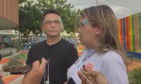 Carlos Caicedo, durante la rueda de prensa a algunos medios en Santa Marta.