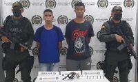 Los dos capturados fueron conducidos a la URI de la Fiscalía.