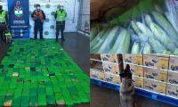 Cargamento de cocaína hallado en el Puerto.