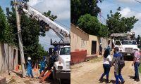 Air-e ejecutó mejoras técnicas en el barrio Monterrey de Fundación.