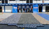 Cocaína incautada en Cartagena.