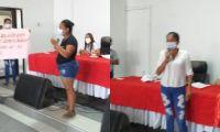 Intervención de familiares de las víctimas en sesión de la Asamblea.