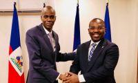 Jovenel Moise (izq) al lado del primer ministro, Claude Joseph, ahora salpicado por este magnicidio.