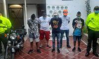 Presuntos integrantes de la banda 'Los Reincidente'