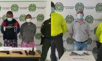 En Zona Bananera, en operativo policial capturan a tres hombres.