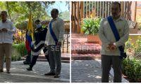 Momentos de la condecoración de Iván Duque a Sergio Díaz Granados.