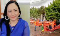 La diputada criticó que los menores marcharon en contra de la Asamblea.