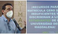 Jaime Noguera, vicerrector administrativo de la Universidad, explicó por qué la Gobernación discrimina a los estudiantes con la gratuidad.
