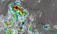 Onda tropical que pasa por el mar Caribe.