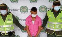 Hombre capturado en Aracataca.