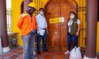Uno de los restaurantes cerrados en El Rodadero.