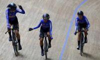 Equipo colombiano de sprint femenino.