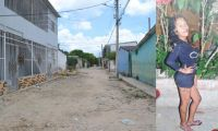 Yuranis Núñez Gutiérrez fue atacada a bala en esta calle del barrio La Central.