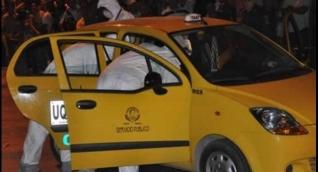 Levantamiento del cadáver en el mismo taxi ocurrido en el año 2012.