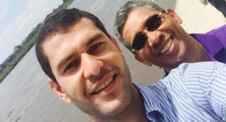 Donaldo Duica (derecha) compartía una estrecha amistad con el Mello Cotes.