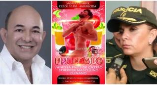 El concejal Juan Ruiz (izq) arremetió contra la coronel Sandra Vallejo.