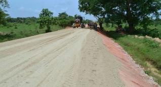 Aspecto de la vía Piñuela-Pivijay.