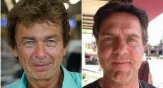 Los dos periodistas holandeses.