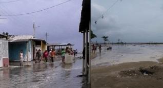 El mar se metió en Pueblo Viejo, Tasajera y Ciénaga.