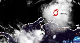 Se espera que el núcleo central de Harvey se posicione al norte de La Guajira hacia la 1:00 de la tarde este sábado.