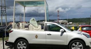 papamóvil en Barranquilla