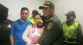 Bebé recuperada en Barranquilla.