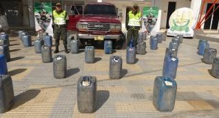 Fueron incautados 4.220 litros de gasolina.