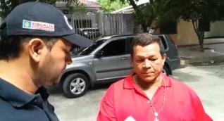 El supuesto brujo, Manuel Esteban Pinto Jinete momentos en que fue capturado.