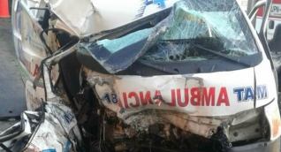 En el hecho perdió la vida el conductor de la ambulancia.
