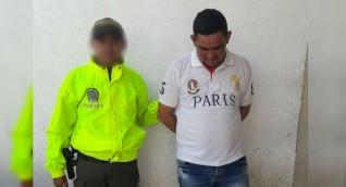 El capturado fue dejado a disposición de la Fiscalía.