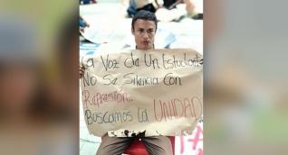 Estudiante se cosió la boca, como forma de protesta.