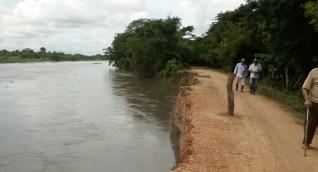 Cerca de un kilómetro de vía se encuentra afectado por erosión.