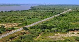 Hasta ahora la vía presenta 17 kilómetros de pavimentación.