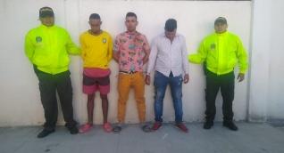 Los presuntos integrantes de 'Los Invasores'.