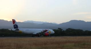 Viva Air inició operaciones este martes de la ruta internacional.