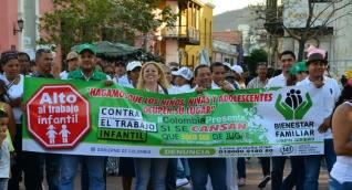 Alcaldía e ICBF lideraron la campaña contra el trabajo infantil.
