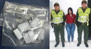 Hellen Giraldo fue capturada por portar, al parecer, 36 envolturas de base de coca.