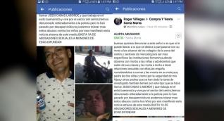La publicación fue realizada en Facebook, y lo acusan de violador.