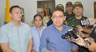 Alcalde Rafael Martínez durante declaraciones.