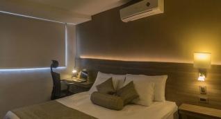 Las habitaciones del hotel Betania son lujosas y confortables.