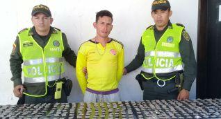 Alias 'Carrasco', detenido con 368 dosis de marihuana.