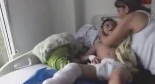 Niño hospitalizado en clínica de Medimás, en Neiva.