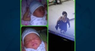 La bebé raptada y la mujer que se la habría llevado.