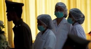 Rueda de prensa sobre la salud de los niños rescatados.