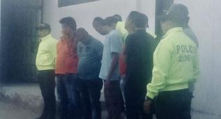 Algunos de los capturados en los operativos de la Policía.