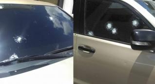 Camioneta donde se desplazaba el director de la Dian, atacada a bala.