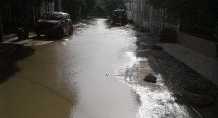 El sector se inunda cada vez que llueve.